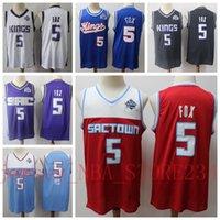2019 novas jerseys de basqueteSacramento.Kings.Casa de Aaron Fox 5 Azul City Versão Top Quality Costurada Camisas S-XXL