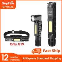 Neue Suppfire G19 Tragbare LED + COB-Taschenlampe mit Magnet USB Wiederaufladbar am besten für Angeln Camping Arbeitslicht Leistungsstarke Fackel