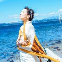 Универсальная жена шелковой женщины романтический путешествия сетка красная жестокая летняя платка солнцезащитный пляжный шарф