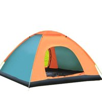 Tents And Shelters 1-2 Person Tent Family Camping Hiking Accessories Large Space Waterproof Ultra Light Outdoor Automatic -Up