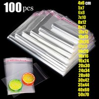 Storage Bags Clear Self Adhesive Bag Plastic Cello Cellophane Sealing Small For Gift Candy Packing Resealable OPP Cookie Package