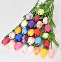 PU mini tulipano decorazione di nozze artificiale decorazione di seta fiori artificiali artificiali pianta moda arredamento moda nave BWE5854