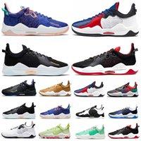 2021 Paul George PG 5 V Erkek Basketbol Ayakkabı En Kaliteli Clippers Bred Mavi Toz Turşu Biber Çok Renkli Oreo Playstation PG5 Eğitmenler Erkekler Spor Sneakers