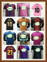 Versão do jogador Jersey Del Jugador Messi Barca 20 21 22 Ansu Fati 2021 2022 Grisezmann F. de Jong Camisetas Fúltbol Camiseta Hombres Kit