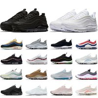 air max 97 운동화 남성 여성 트리플 블랙 화이트 Sean Wotherspoon USA Ghost Jesus Barely Rose 97s Mens Womens Trainers Sports Sneakers