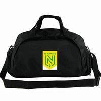 FC Nantes Duffel Bag Les Canaris Tote Футбол Клуб Рюкзак Футбол Команда Камера Спорт Плечо Duff Эмблема Слинг