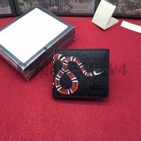 Hombres animales cortos carteras de cuero serpiente negro tigre abeja de alta calidad mujer estilo largo estilo de lujo monedero titulares con caja de regalo superior calidad