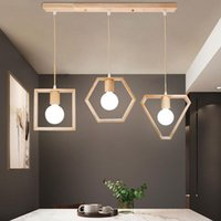ArtPad деревянная подвесная лампа крытый дом живущая комната EL дескортивный Nordic простые природа древесины геометрические подвесные светильники E27