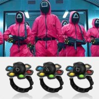 TV Squid game wristband push bubble fidget bracelets cosplay masked Soldier wrist bands square triangle circle spinners fingertip toy kids Christmas gift