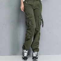 Women's Pants & Capris Women Army High Waist Loose Multi-pocket Pant Military Camouflage Versatile Cotton Trouser Ladies Street Jogger Sweat
