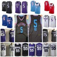 Stadt verdiente Ausgabe Deaaron 5 Fox Basketball-Trikots Marvin 35 Bagley III Chris 4 Webber Jason 55 Williams Männer genäht Größe S-3XL