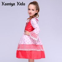 Vestidos de niña Kseniya Niños 2021 Algodón Primavera Rosa Rojo Lindo Bebé Bebé Ropa Navidad Acción de Gracias Flor Muchachas Vestido de encaje Paño Boutique