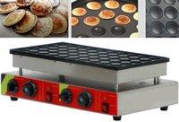 Pişirme Kalıpları 220 V / 110 V 50 Delik Waffle Maker Ticari Bisküvi Hollanda Poffertjes Izgara Mini Krep Makinesi