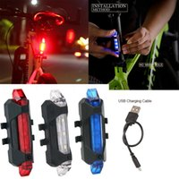 Bicycle Rear LED Light LED Bicycle Rear Tail Light USB Rechargeable Mountain Bike Lamp Waterproof Light Bicycle Accessories