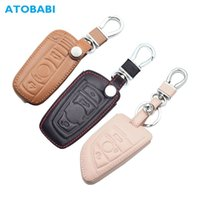 Key Rings Leather Car Case for Bmw E90 E60 E70 E87 1 3 5 6 Series M3 M5 X1 X5 X6 Z4 Keychain Holder Protector Cover Bag Auto Accessory