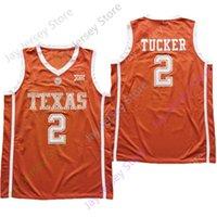 2021 New NCAA College Texas Longhorns Jersey 2 Tucker Giallo Dimensione S-3XL Ricamo Tutti i cuciti Uomini giovani