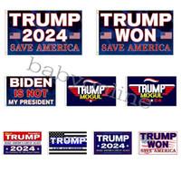 3 * 5 ft Trump Won Bandiera 2024 Bandiere elettorali 90 * 150 cm Donald the Mogul Salva Banner Banner Bandiere celebrità