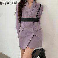 Gagarich mujer blazer 2021 primavera otoño corea elegante temperamento damas estilo británico doble pecho suelto ocasional traje chaqueta