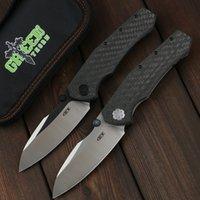 Yeşil Thorn ZT0850 D2 Blade Karbon Fiber + TC4 Titanyum Kolu Katlanır Bıçak Pratik Açık Kamp ve Avcılık EDC Aracı
