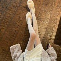 Dorme di seta netta vuota Autunno Inverno Abbigliamento donna Bla Sexy Pantyhose Slim Elastico Elastico Show Thin Gambe Base SOS