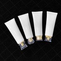Depolama Şişeleri Kavanoz 120 ml Beyaz Plastik Yumuşak Tüpler El Kremi Şişe Parlak Moda Sıkma Hortum Örnek Kozmetik Konteyner 30 adet / grup