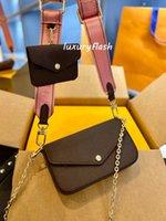 2pcs Femmes Desigenrs Marque Luxurys Sac Enveloppe Sacs Bandoulière Sacs Messenger Pures Mode Design Lady 2021 Classic Europe Styles Sacs à main