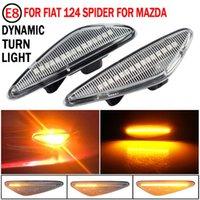 Emergency Lights 2pcs LED Dynamic Fender Side Marker Light Turn Signal Lamp For 6 Atenza GH 5 Premacy CW MX-5 RX-8 124 Spider