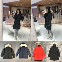 Womens Designers Winter Coats Down Parkas 2020 Outerwear Clothes Hooded Windbreaker Women Warm Big Fur warm Women Clothing Down Jackets