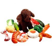 Фруктовые и овощные игрушки имитации холст укус Пусть Relax Pet Sace