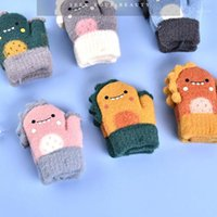 Caps Hats euerdodo зимние детские перчатки теплые мультфильм ребенок девочек мальчики вязаные малыши детей открытый милый оптом1