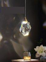 펜던트 램프 Moonshadow 조명 침실 LED 전체 황동 크리스탈 노르딕 램프 등기구 서스펜션 장식 살롱 220V 매달려