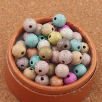 800Pcslot Mixed Colorful Stardust Round Beads 8mm Hot sell Acrylic IN STOCK Acrylic, Plastic, Lucite Loose Beads ZHL2561