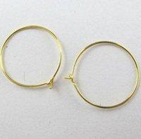 Stor rund hoop örhänge Hitta krok guld tråkig silver bronspläterad för smycken gör waj0439