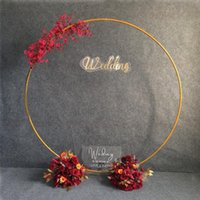 Party Decoration 2m Wedding Arch Backdrop Wrought Iron Ring Flowers Balloon Decorations Birthday Event Flower Golden Stand