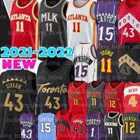 Toronto Raptors Atlanta Hawks Pascal 43 Siakam Jerseys Trae 11 Junge Kyle 7 Lowry Vince Deandre 12 Hunter Tracy Carter McGrady Spud 4 Webb 2021 New Basketball