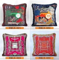 Luxury pillow case designer classic Signage tassel Carriage saddle 20 patterns printting pillowcase cushion cover 45*45cm for new home decor
