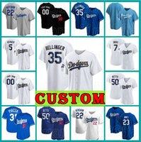 "22 Clayton Kershaw Dodgers ""Jersey Mookie Betts Custom Los Julio Urias Béisbol Cody Bellinger Angeles Corey Seaver Chris Taylor Yasiel Puig"