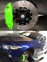 KLAKLE Racing Car Designer Brake Kit F40 Brakes Caliper 362*28MM Grooved Style Cars Disc For Mercedes Benz Slk32 2004