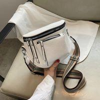 Cross body homemari designer tasche 2021 schulter frauen handtaschen breiter gurte funktionelle taschen pu leder reißverschluss Geldbörsen und