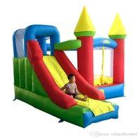 Двор Super Bouncy Castle Надувная вышивка отказов до дома слайд перемычка с воздуходувкой