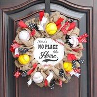 1 stücke Hausnummer Dekoration Girlande Baseball Team Kunststoff Türhänger Simulation Kann wiederverwendet Dekorative Blumen Kränze