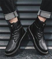 Retro Britânica Forma Resistente Martin Botas Confortável Respirável Sem Costura Outsole Ferramentas de Ferramentas de Ferramentas ao ar livre Sapatos na moda Tamanho39-44
