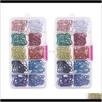Handwerkzeuge 600 Stücke farbige Birne Sicherheit Bulk Metall Birnenförmige Pins Strickstichmarkierungen für Kleidung Nähen Machen mit Lagerung PXCJH