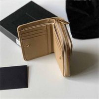 Fashion Classic Women Top Quality Full Leather Luxurys Designer Wallet Gold and Silver Buckle Coin Purse Card Holder 12cm With box #029