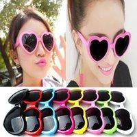 Mutter und ich Kinder Pfirsich Herz Sonnenbrille Kinder Strandbedarf UV Schutzbrillen Mädchen Jungen Sonnenschirme Gläser Mode Accessoires