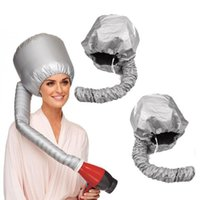 Portable Soft Hair Drying Cap Bonnet Hood Hat Blow Dryer Attachment Curl Tools Gray Dry Cream