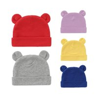Caps & Hats Baby Hat With Ears Cotton Warm Born Accessories Girls Boys Autumn Winter For Kids Infant Toddler Beanie Cap