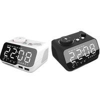 Smart Home Control Digital Alarm Clock Bluetooth Głośnik FM Radio Temperatura Jasność Dimmer Timer -eu Plug