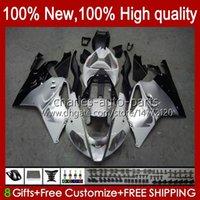 Karosserie für Aprilia Mille RV60 RSV-1000 RSV 1000 R 1000R 1000RR 04 05 06 Body Kit 11No.10 RSV1000RR RSV1000R 2004 2005 2006 RSV1000 R RR 04-06 OEM Verkleidung weiß silbrig
