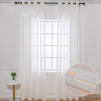 Curtain & Drapes White Sheer Curtains For Living Room Bedroom Colorful Striped Printed Tulle Fabric Voile Kitchen Panels